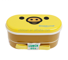 Cartoon Healthy Plastic Bento Box Double Layer Portable Lunch Bento Boxes Food Container Dinnerware Lunch box Cutlery