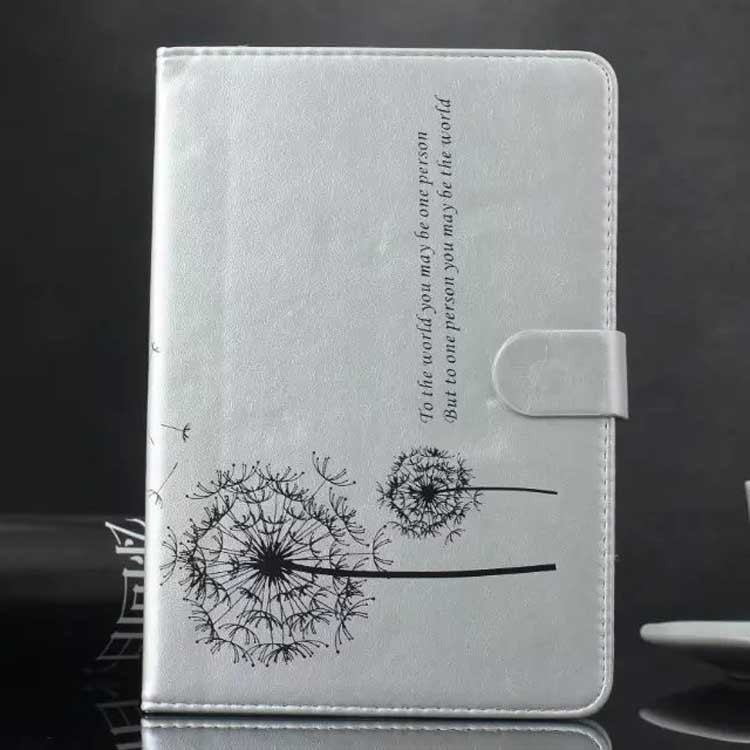 Dandelion Pattern Premium PU Leather Wallet Book Flip Protective Skin Case for Apple Ipad 2/3/4/5/6,for ipad mini 1/2/3 case