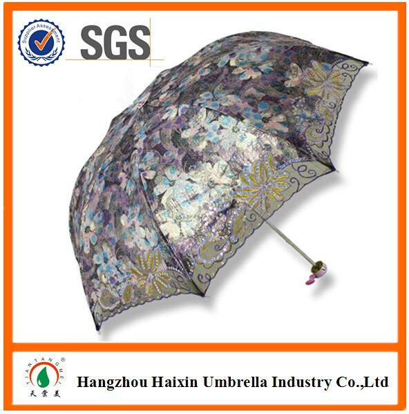 Gift Hangzhou Fashion Lace UV Protection Sun Parasol Umbrella Yiwu