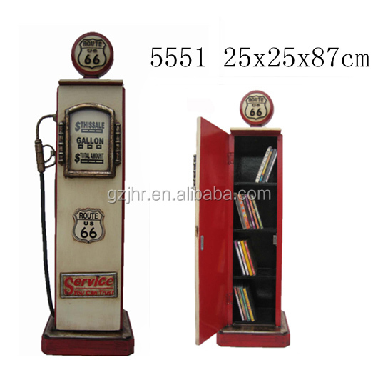 Wooden Retro Gas Pump CD/DVD Holder