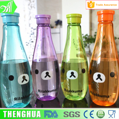 Fancy Kuma Plastic Sport Water Bottle Bowling Shaped Drinking Bottles