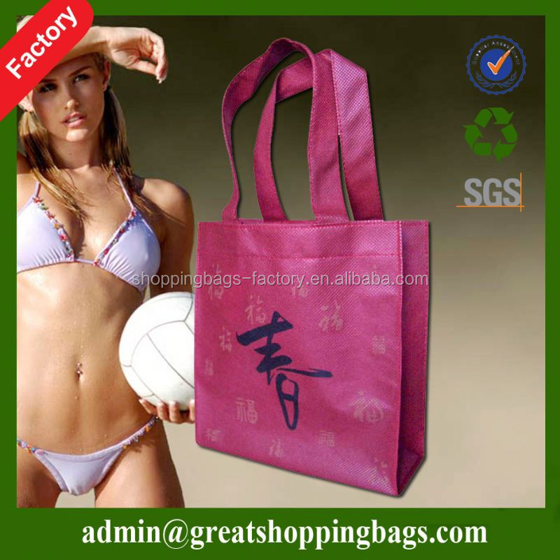 silver laminated non-woven tote bag for fruit packing