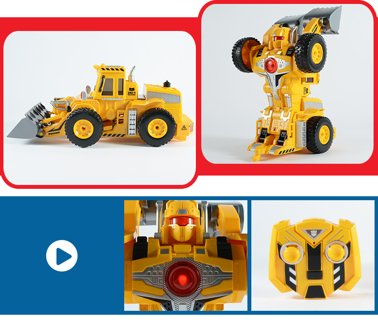 new featured play interaction car toy deformation fighting robot for children