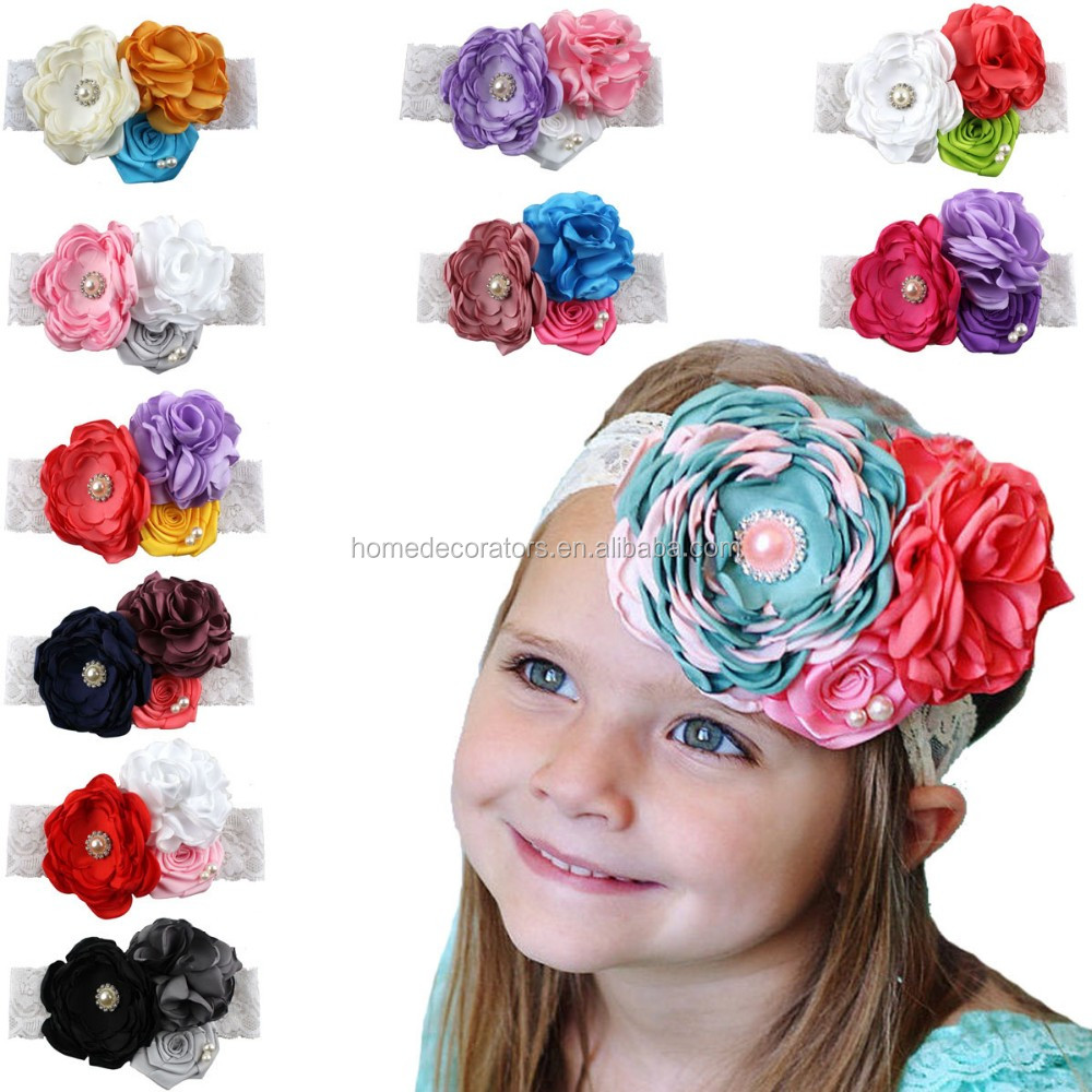 Flower Headbands Girl Headbands Vintage Baby Headband