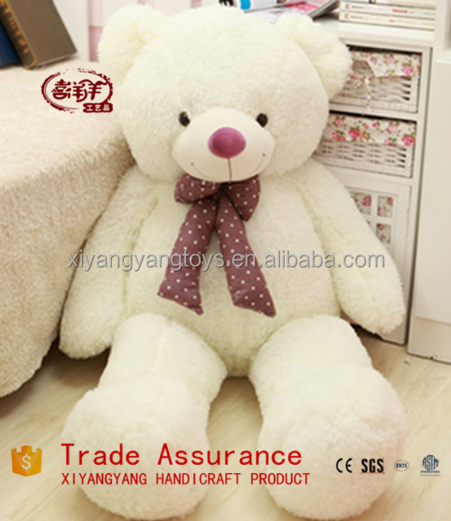 2015 Alibaba Express China Whoesale export giant stuffed white teddy bear