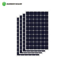 Sunway High Efficiency 210W photovoltaic mono solar panel Solar Module with 48 cells