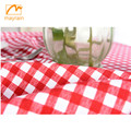 Red and White Checkered Gingham Print Table Cloth Vinyl Tablecloth for Holiday and Party