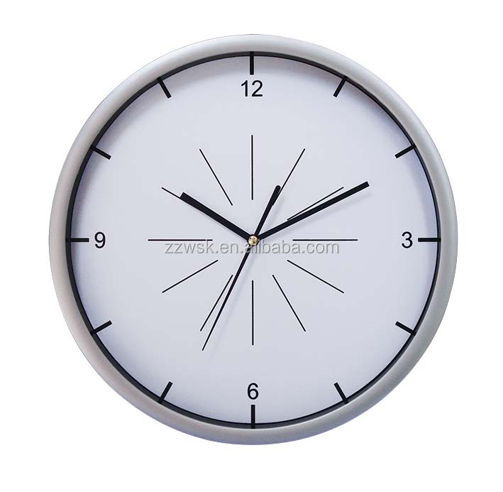 "China manufacturer cheap 12"" plastic wall clock for promotion"