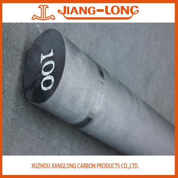 RP HP small diameter(75-200mm) graphite rods for sale China supplier