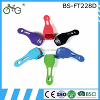 2015 hot selling silicone led bike bicycle light with CE RoHS BSCI certificate
