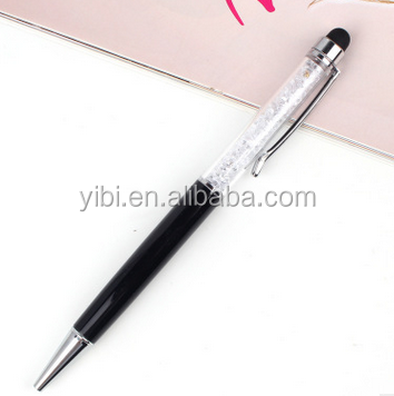 Guangzhou manufacture smart promotional gift customized logo crystal stylus pen