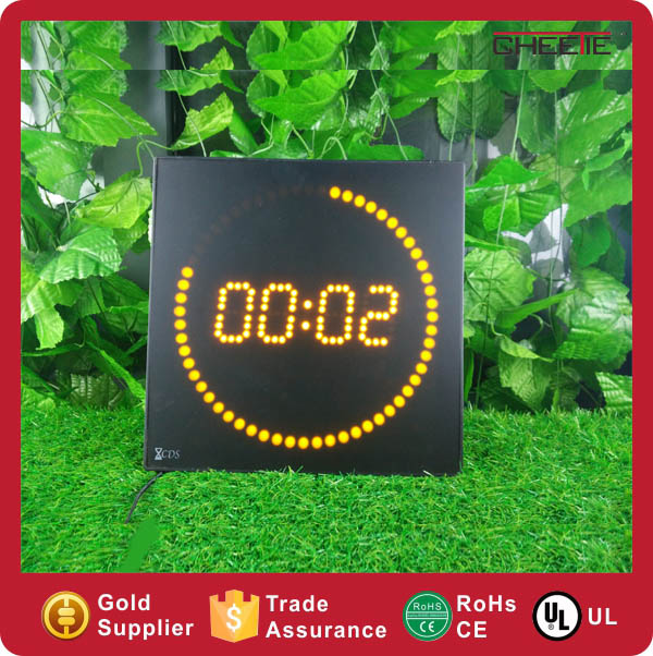 Digital LED Wall Clock Running Dots Unique Design LED Digital Clock