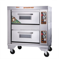 2 layer 2 tray gas power source bread baking oven