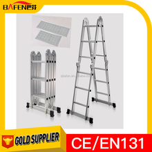 "12"" 300lbs Multi Fold Purpose Aluminum Ladder W/Plate Aluminum ladder with EN131"