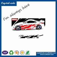 Custom paper self adhesive car sticker label