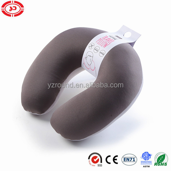Brown travel neck pillow inflated covenient cosy neck support pillow