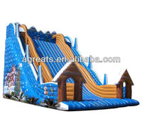 inflatable Christmas party events theme slides G4058