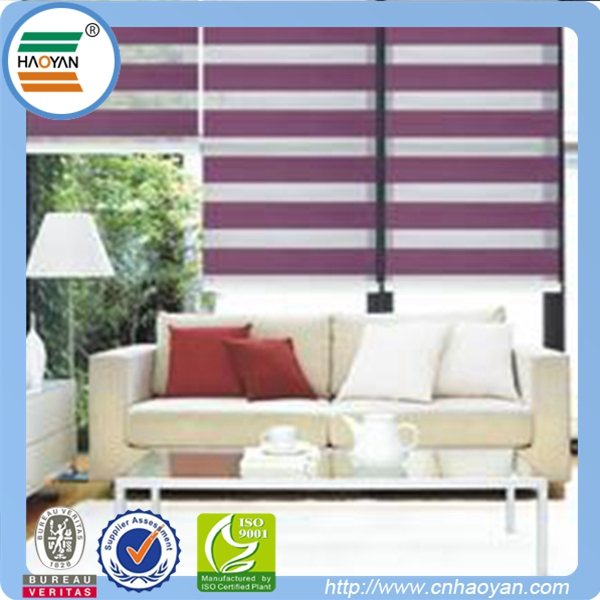 purple color beautiful zebra window blinds