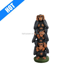 hand painted garden decoration monkey