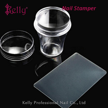 Best Selling Products Nail Art Stamping Tools Soft Silicone Transparent Scraper And nail Stamper