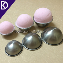 Stainless steel 55mm 65mm 75mm metal bath bomb mold gift set