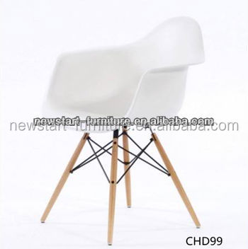 <strong>oak</strong> wood legs white pp ABS plastic chair