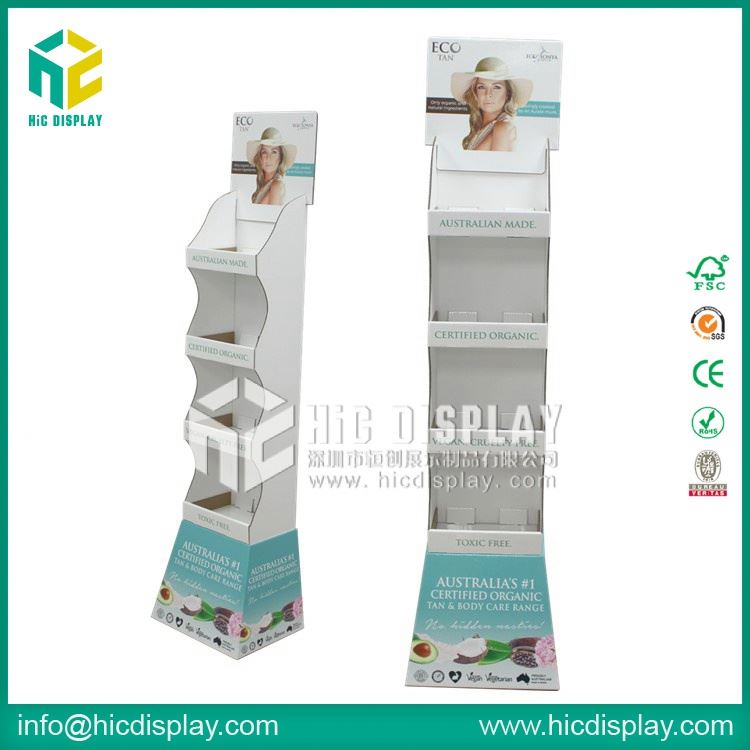 HIC perfumed soap paper promotional table, sunscreen products cardboard display