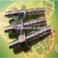 wedge anchor,through bolt 3/8*2-3/4