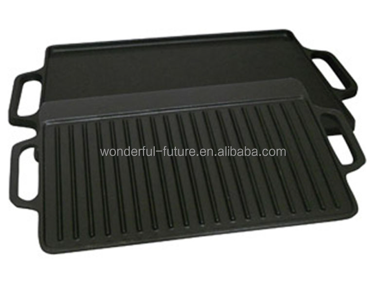 cast iron pan,cast iron preseasoned fry pan,cast iron enamel grill pan