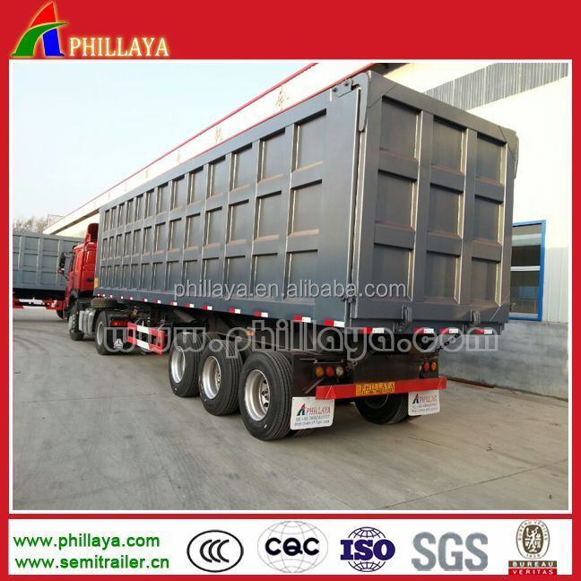Hydraulic Strong Box 100 Ton Dump Truck Semi Trailer