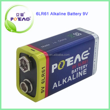 6LR61 Alkaline 9v dry cell battery for electric toys