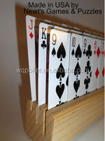 Three Slot (a.k.a. 3 Tier) Wood Extra Hand Playing Card Holder (Includes 1 Holder) - MADE IN CHINA