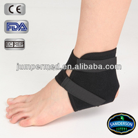 Multidirectional stretch neoprene sports black ankle support, Open heel and contoured design