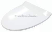 Slim line smooth polished edge wc toilet cover U6105S