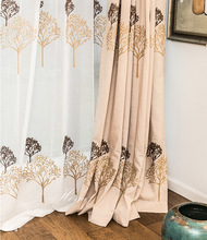 designs curtainnature tree pattern living room bedroom hotel blackout window curtain with all match embroiderycurtain fabric