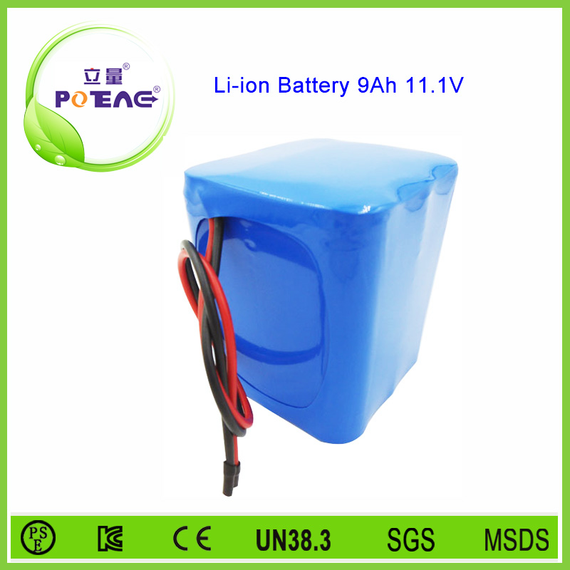 Li-ion type rechargeable battery 12v 9ah with pcm and charger