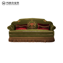 Antique new classics Italian parlor top European style furniture luxury hand carved living room fabric sofa set(V158-3)