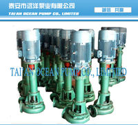 Vertical river sand suction pump driven by motor