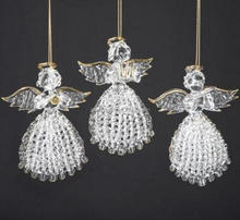 wholesale glass hanging angel,christmas tree hanging angel ornaments