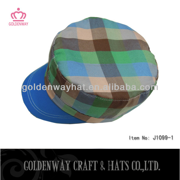 fashion mix color plaid baseball caps military hard hats for sale