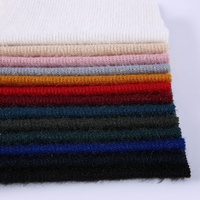 Popular textiles women garment rib dyed knit spun knitted polyester fabric