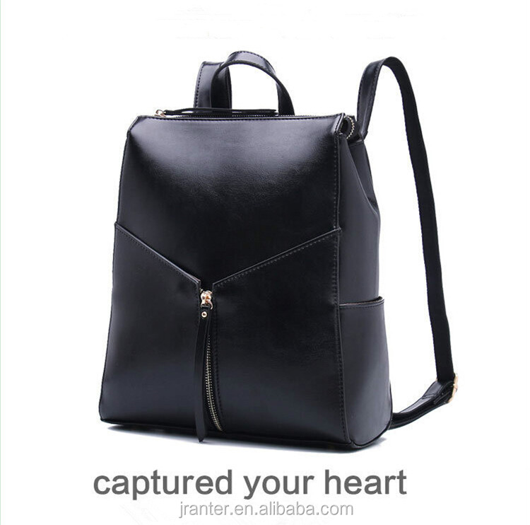 Wholesale Fashion real leather School Laptop backpack for college student