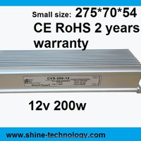 Small 12v 200w 16 7a Waterproof