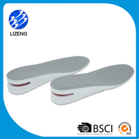 Air cushion PU height increase sole insole with size line