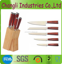 Chinese style promotion 5pcs knife set
