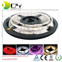 Waterproof RGB IP65 led light strip 10mm 12W/M SMD2835 flexible battery powered LED strip light