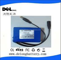 12V dc lithium ion rechargeable led light battery pack 6.8A/10A/20A/30Ah for LED strip/panel&Camera/IP Camera