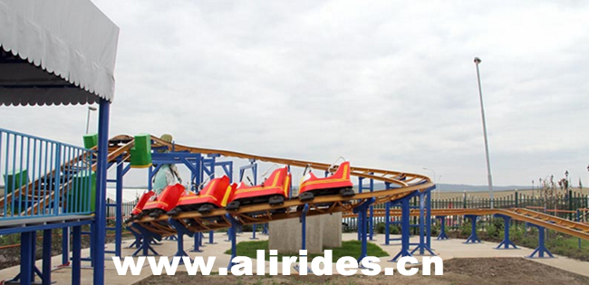 [Ali Brothers]Mini roller coaster sliding electric track train