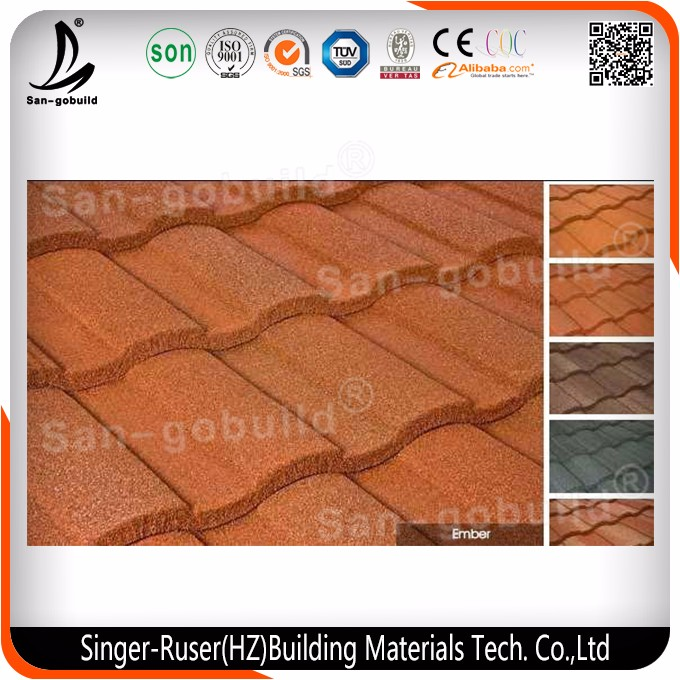 Colorful Stone Coated Metal Roof Tile Roof Shingle With Over 50 Years Warranty