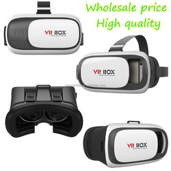 2016 hot product vr box 2.0 virtual reality google cardboard vr headset vr case with bluetooth remote controller